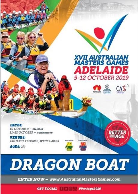 Dragonboat 2019 Australian Masters Games Adelaide - Dragon